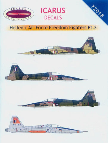Icarus 1/72 decal Hellenic Air Force F5s Freedom fighters Pt 2 #72018