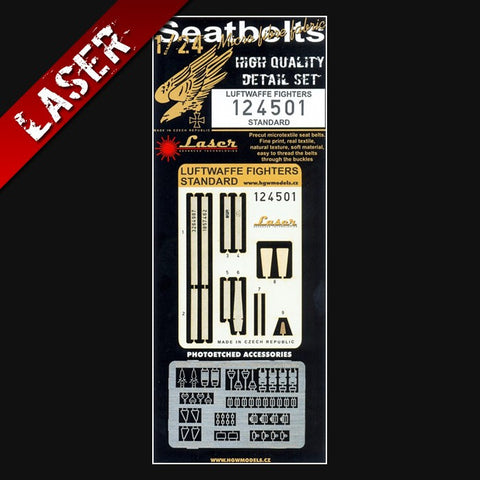HGW 1/24 Laser cut seatbelts for Luftwaffe Fighters (early) #124501