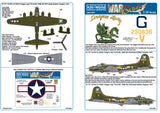 Kits-World decals 1/32 Boeing B-17F featuring Dragon Lady - KW132090