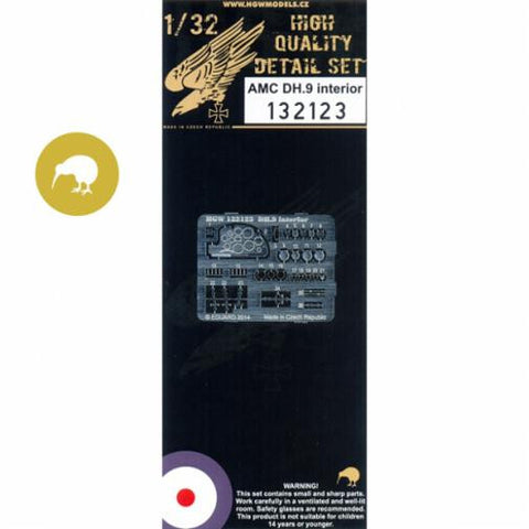 HGW 1/32 AMC DH.9 - Interior PE set for Wingnut Wings -132123