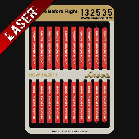 HGW 1/32 Remove Before Flight tags #132535