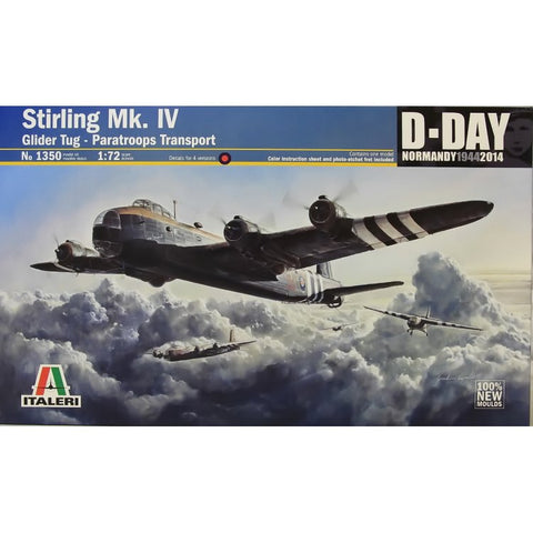 Italeri Model kit 1/72 STIRLING Mk.IV - 1350 - Slight Shelf Wear