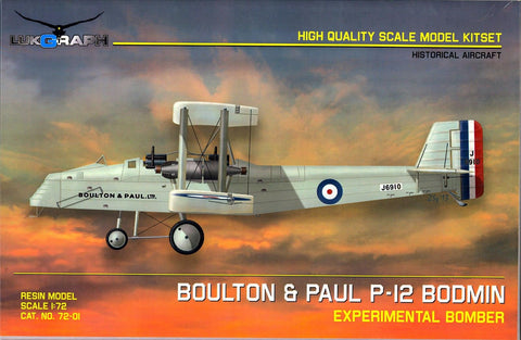 Lukgraph 1/72 resin kit BOULTON & PAUL P-12 BODMIN Experimental Bomber - 72-01