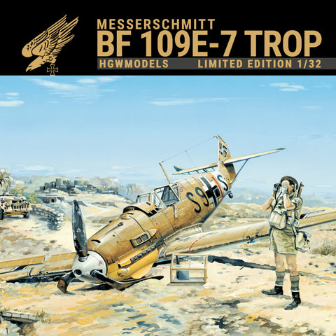 HGW 1/32 scale Messerschmitt Bf 109E-7 Trop multi-media kit - #103201