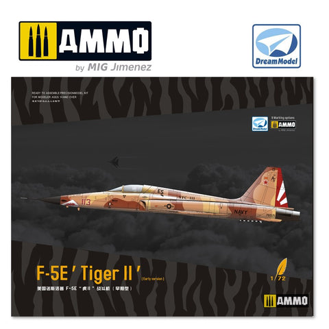 Dream Model 1/72 Scale Northrop F-5E Tiger II Early  - DM720013 Model Kit