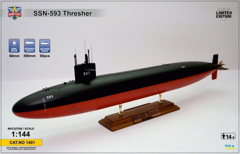 Modelsvit 1/144 unpainted/unassembled kit USS Thresher SSN-593 submarine - 1401