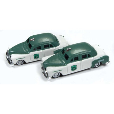 Classic Metal Works - Mini Metals N scale RTR - 1950 Dodge Police Cars (2) #50382
