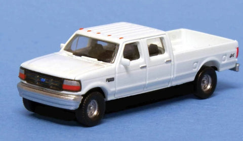River Point 618-N36L65701 N scale Ford F Series Super Duty (2) - White Undecorated