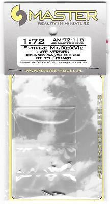 Master Model 1:72 Spitfire Rounded Fairing Hispano 20mm Browning .50 #AM72118