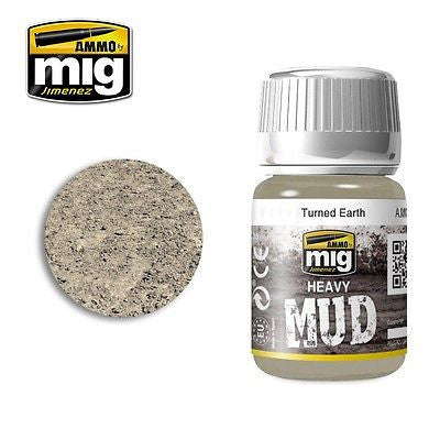 AMMO of Mig Jimenez Heavy Mud TURNED EARTH 35ml - AMIG-1702 enamel