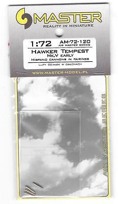 Master Model 1:72 Hawker Tempest Early Hispano 20mm Barrels in Fairing #AM72120