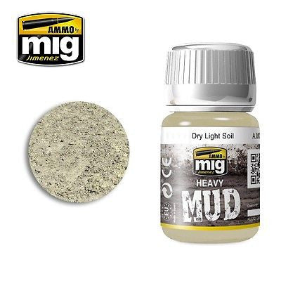 AMMO of Mig Jimenez Heavy Mud DRY LIGHT SOIL 35ml AMIG-1700 enamel