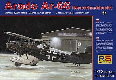 RS Models 1/72 kit Arado Ar-66 Nachtschlacht kit 92052 - Bagged! No Manufacturer's Box!
