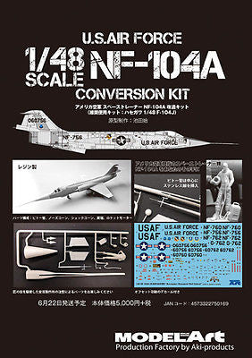 Model Art 1/48 USAF NF-104A conversion set for Hasegawa 1/48 F-104J kit - NF004