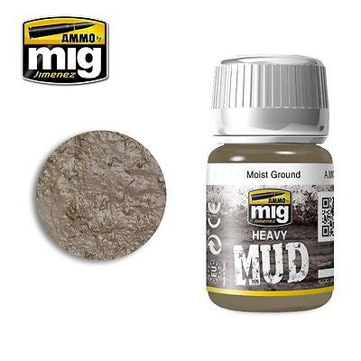 AMMO of Mig Jimenez Heavy Mud MOIST GROUND 35ml - AMIG-1703 enamel