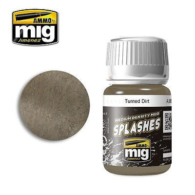 AMMO of Mig Jimenez Splashed Soil TURNED DIRT 35ml - AMIG-1753 enamel