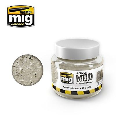 Ammo of Mig Jimenez ARID EARTH GROUND - Acrylic Mud 250ml Jar A.Mig 2100