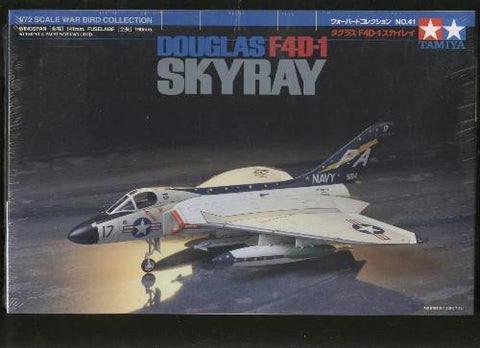 Tamiya 1:72 scale Douglas F4D-1 Skyray - kit 60741 - NOS Slight Shelf Wear