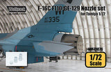 Wolfpack 1/72 Resin F-16C F110-GE-129 Engine Nozzle set for Tamiya - WP72076