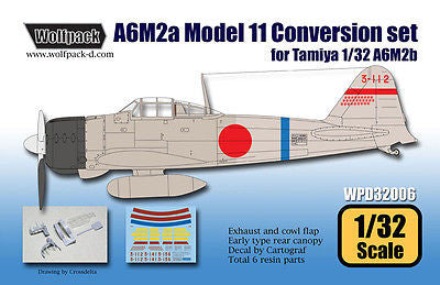 Wolfpack 1/32 scale resin A6M2a Zero Model 11 Conversion for Tamiya - WPD32006