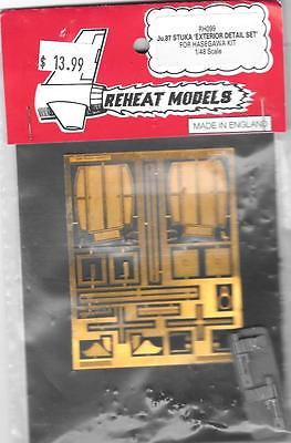 Reheat Models 1/48 Photoetched+Resin Ju.87 Stuka Exterior Detail Set - RH099