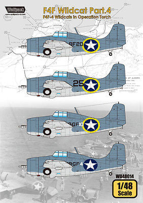 Wolfpack 1/48 Decal F4F Wildcat Part.4 - F4F-4 Wildcats in Operation Torch