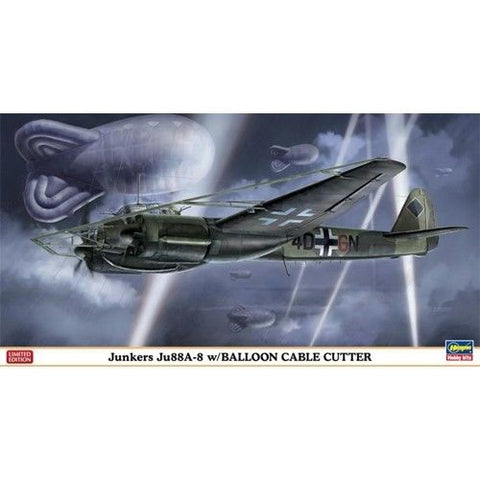 Hasegawa Model kit 1/72 scale Junkers Ju88A-8 W/Balloon Cable Cutter - 01999