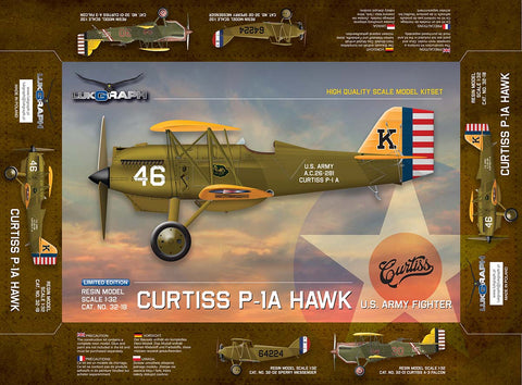 Lukgraph 1/32 scale Curtiss P-1A HAWK US Army Fighter aircraft resin kit 32-18