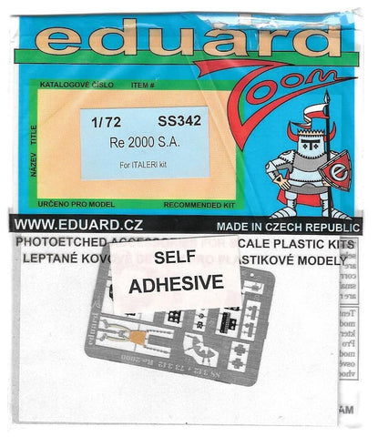 Eduard 1/72 Photoetch Re 2000 S.A for Italeri kit - SS342