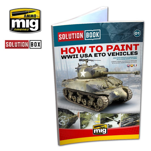 AMMO of MiG Jimenez How to Paint WW II AMERICAN ETO SOLUTION BOOK - AMIG6500