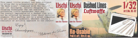 Uschi 1/32 scale #2011 Dashed Line Large No Walk Luftwaffe paint masks