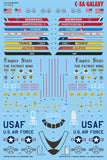 Caracal Models 1/144 decals for C-5A Galaxy for Roden & Otaki/Revell - CD144008