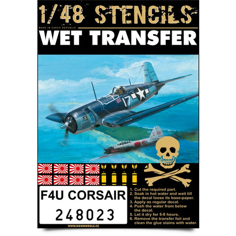 HGW 1/48 wet transfer stencils for F4U Corsair - 248023