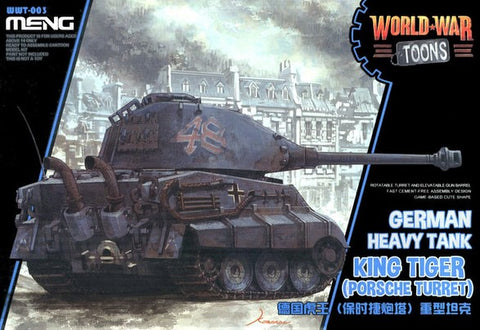 MENG World War Toons WWT-003 King Tiger (Porsche Turret) German Heavy Tank Kit