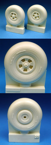 1/24 BarracudaCast resin BR24201 Typhoon Late Style Mainwheels