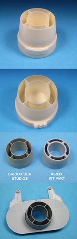 1/24 BarracudaCast resin BR24202 Typhoon Carburettor Intake Ring