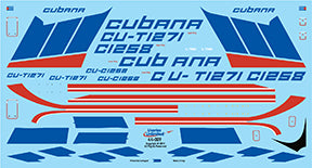 Fundekals 1/144 Decals ILYUSHIN IL-76 CUBANA Liveries Unlimited - 44-009