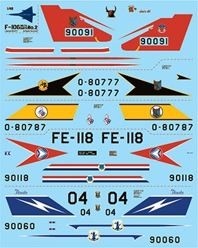 Fundekals 1/48 scale decals for Convair F-106 Delta Dart kits - Pt 2 - FUN48010