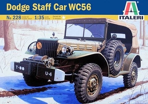 ITALERI 1/35 US DODGE  3/4 Ton Staff Car  WC 56 kit #228