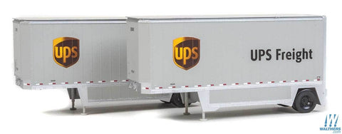 Walthers Scene Master 949-2551 HO Scale UPS 26' Drop-Floor Trailer (New Shield)