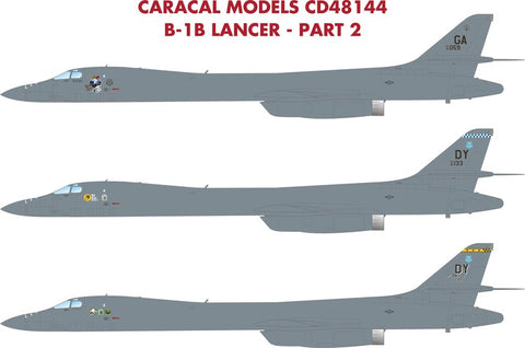Caracal Models 1/48 decals for the B-1B Lancer model kit - CD48144 Pt2