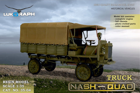 Lukgraph 1/35 scale resin kit WWI Nash Quad Truck - #35-04