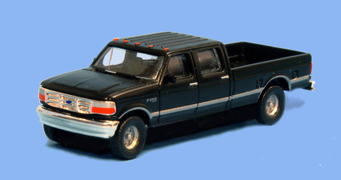 River Point 618-N36L65707 N Scale Ford F Series Super Duty (2) - Black Undecorated