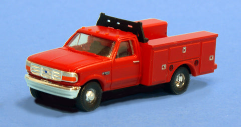 River Point 618-N36J72510 N Scale Ford F Series Super Duty (2) - Red Undecorated