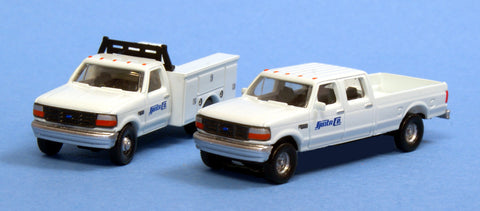 River Point 618-N383JL9G3 N Scale Ford F Series Super Duty (2) - Santa Fe (White)