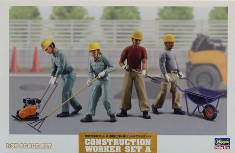 Hasegawa 1/35 Scale Construction Workers Set A - kit 66003