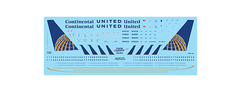 Fundekals 1/144 scale decals Boeing 737NGs Continental & United Airlines 44-012