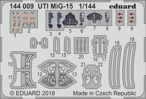 Eduard Photoetch set 1/144 scale - UTI MIG-15 for Eduard kit - 144009