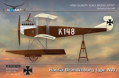 Lukgraph 1/48 resin kit German Hansa Brandenburg type NW floatplane 48-03