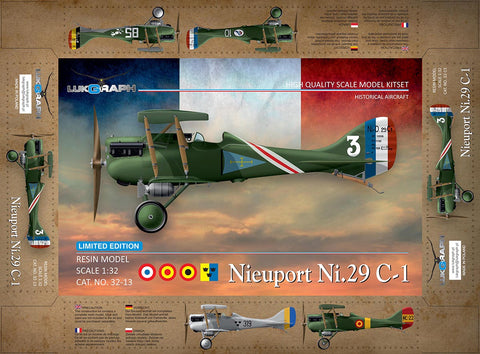 Lukgraph 1/32 Nieuport Ni.29C-1 Resin Multi Media kit - 32-13